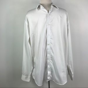 Kenneth Cole Reaction white dress button down 34